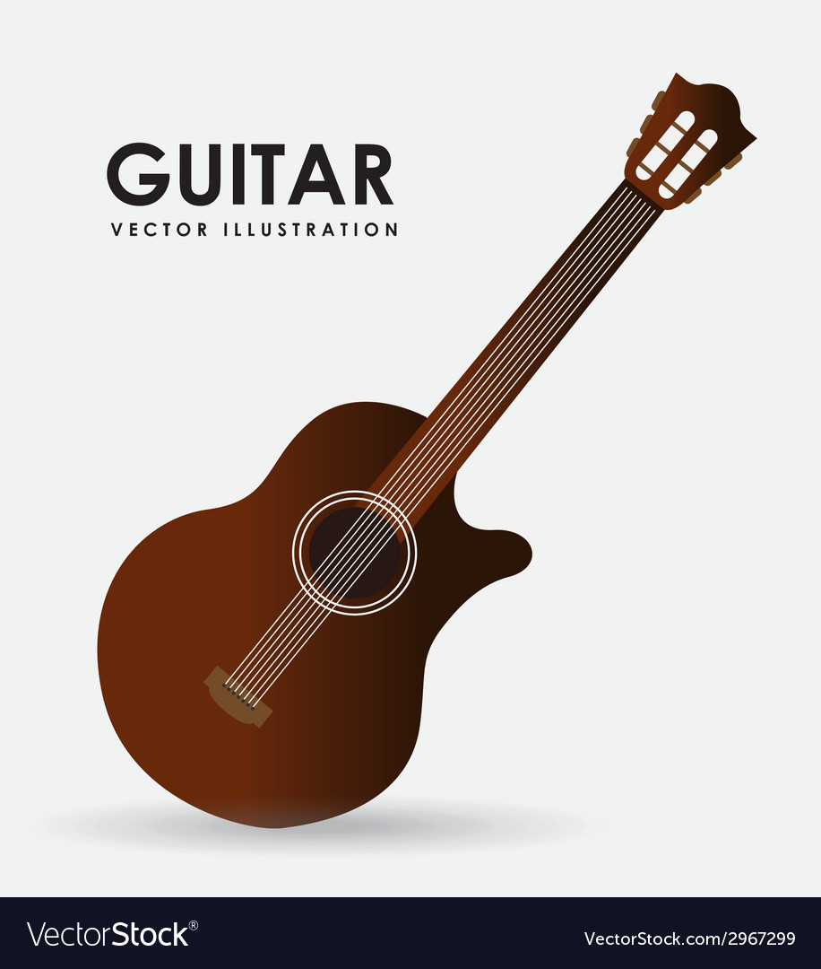 Guitar design vector | Price: 1 Credit (USD $1)