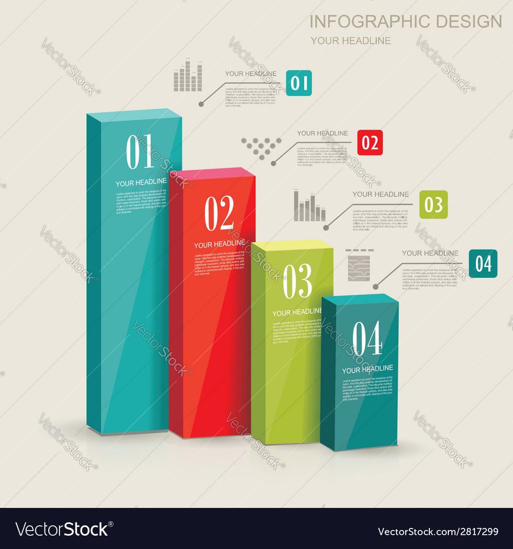 Modern infographics set diagram and time line vector | Price: 1 Credit (USD $1)