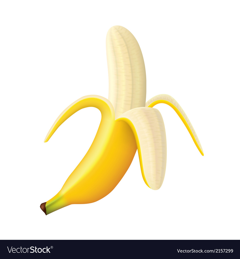 Object banana vector | Price: 1 Credit (USD $1)