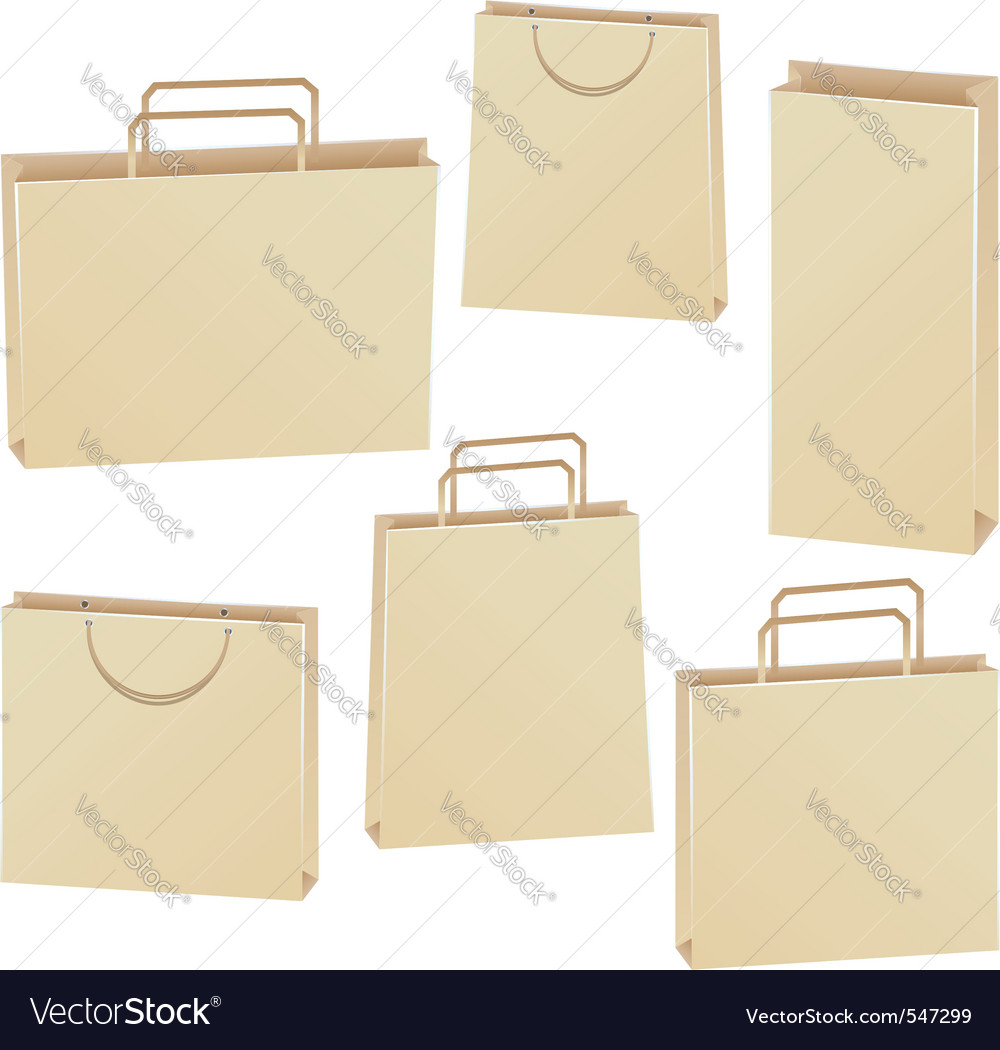 Paper bags vector | Price: 1 Credit (USD $1)