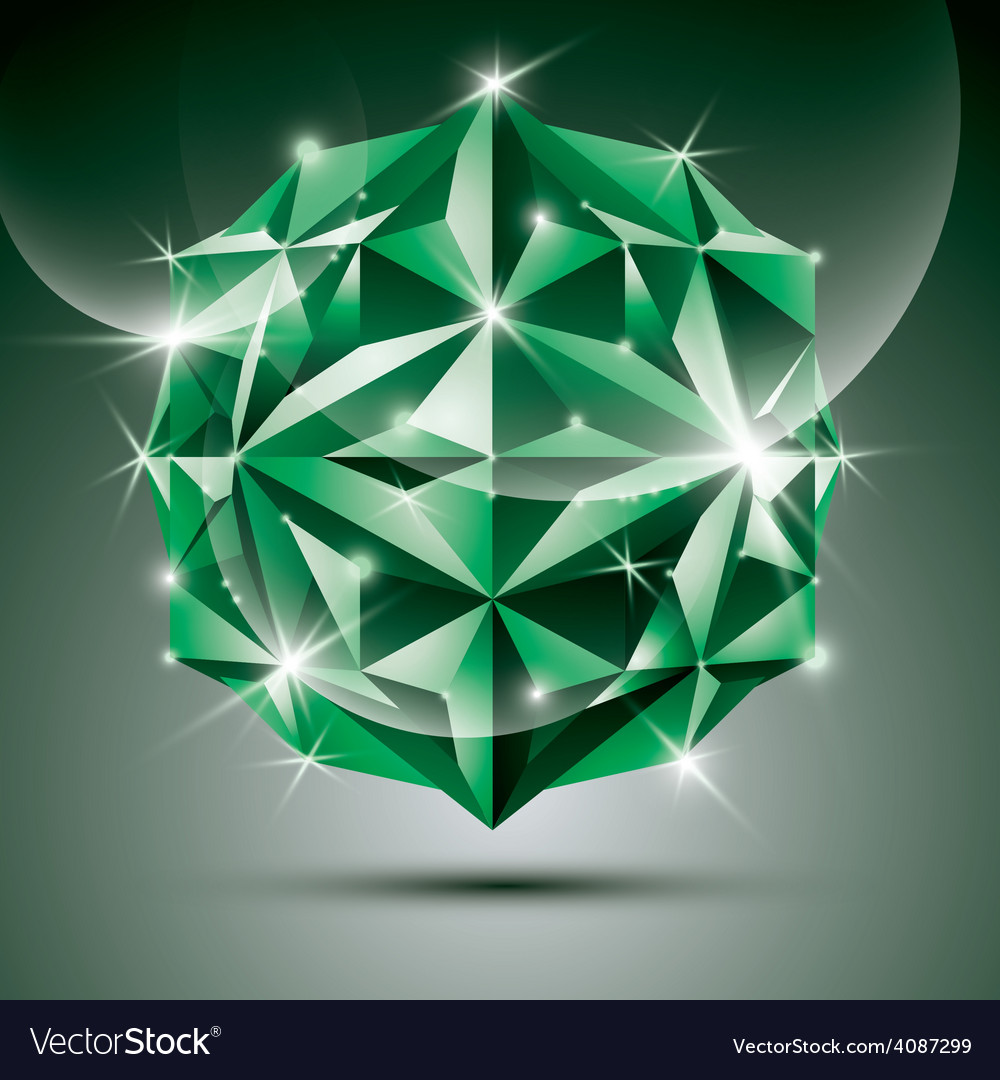 Party 3d green shiny disco ball fractal dazzling vector | Price: 1 Credit (USD $1)