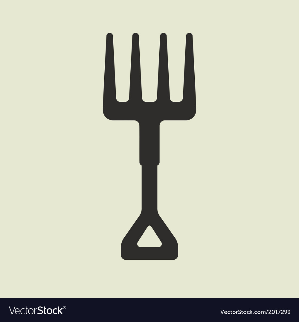 Silhouette of cartoon forks with yellow handle vector | Price: 1 Credit (USD $1)