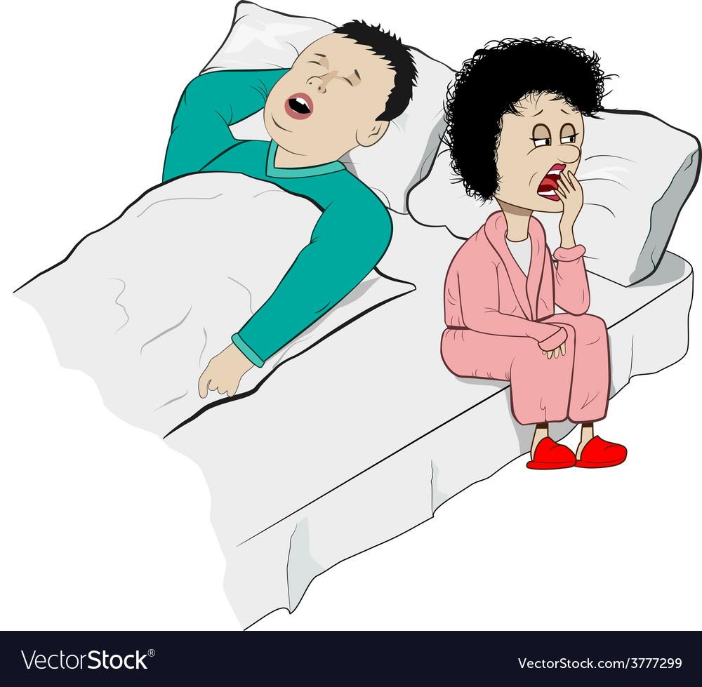 Snoring vector | Price: 1 Credit (USD $1)