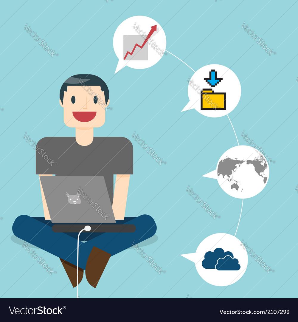 Work online vector | Price: 1 Credit (USD $1)
