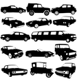 Set black silhouettes of different types of the vector