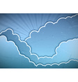 Clouds blue vector