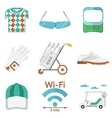 Flat colored icons for golf vector