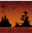 Holiday halloween landscape vector