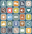 Chat flat icons on blue background vector