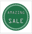 Green amazing icon badge label or sticke vector