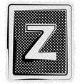 Polka dot font letter z vector