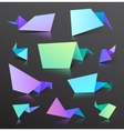 Set of colorful origami bubbles isolated vector