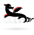 Abstract black dragon vector