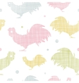 Abstract textile roosters seamless pattern vector