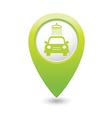 Car wash pointer green vector