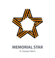 Memorial star for victory day made of st george vector