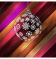 Christmas ball with place for your text eps 10 vector