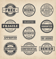 0012 commercial stamps set2 vector