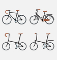 Bicycles 4 styles vector