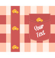 Cloth background with buttons vector