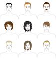 Men faces set vector