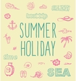 Retro elements for summer calligraphic designs vector