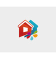 House and flower icon symbol vector