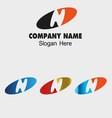 Letter n alphabet logo letter n icon vector
