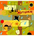 Funny autumn background vector