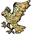 Aztec eagle vector