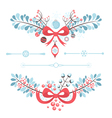 Set of christmas and new year decorative elements vector