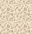 Seamless keys pattern vector