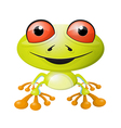 Abstract frog isolated on white background vector