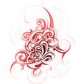 Decorative abstraction with tribal art elements vector