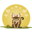 Kitten with ball vector