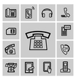 Black phone icons set vector