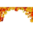 Autumn colored leaves framing eps 8 vector