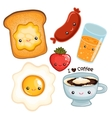 Cute breakfast food image vector