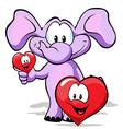 Valentine elephant vector