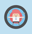 Businessman on archery targets risk concept vector