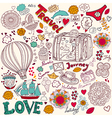 Decorative doodle background vector