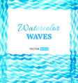 Watercolour waves background vector