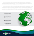 Infographics design template with modern globe vector