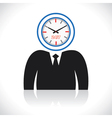 Clock men head vector