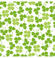 Seamless clover background vector