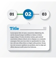 Three steps loading paper design for infographics vector
