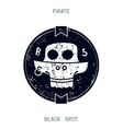 Pirate black spot vector