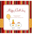 Funny birthday party greeting card vector