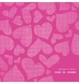Pink lace hearts textile texture frame corner vector