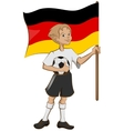 German soccer player holding ball and flag vector